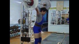 Мезенцев Алексей, 12 лет, вк 62 Рывок 40 кг+приседания