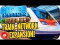 Cities Skylines Parklife - MASSIVE TRAIN EXPANSIONS! #34 Cities Skylines Parklife DLC