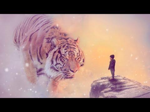Тигр и ребенок | Арт обработка фотографии в Фотошопе