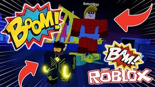 WE BECOME SUPERHEROES!! ROBLOXIA SIMULATOR ROBLOX 💙💚💛 BE BE BE BE BE BE BE BE ON MYLO VITA AND ADRI 😍