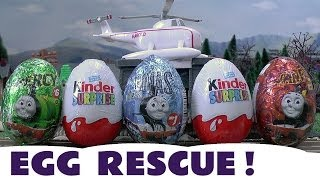 Surprise Eggs Kinder Surprise Eggs Thomas And Friends Toys Emergency Egg Rescue
