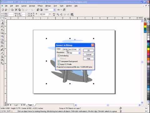 CorelDRAW Tutorial - How to Change Vector to Bitmap Image