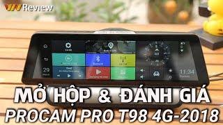 ✅VnReview - Đánh giá camera hành trình Pro T98 4G 2018: camera