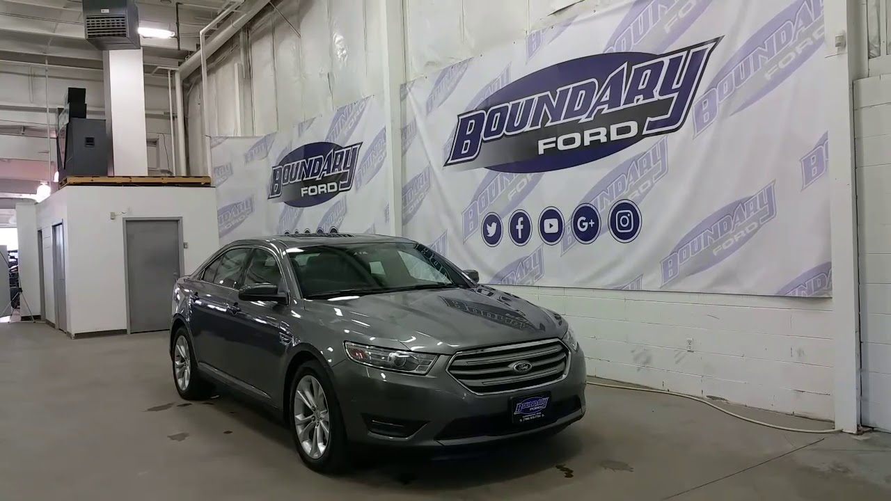 Preowned 2013 ford taurus sel w v6 leather sunroof heated seats review boundary ford