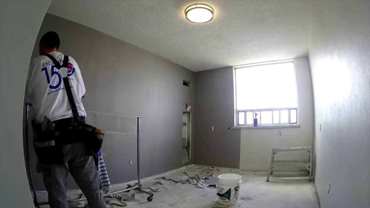 Wallpaper installation - YouTube