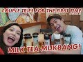 MILK TEA MUKBANG | MACAO IMPERIAL TEA TASTE TEST | COUPLE TRIES FOR THE FIRST TIME | WE DUET
