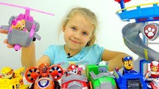 Игрушки Щенячий Патруль в видео для детей.