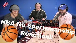 """NBA """"No Sportsmanship"""" MOMENTS REACTION!!   OFFICE BLOKES REACT!!"""