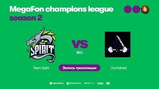 Team Spirit vs Unchained, MegaFon Champions League, Season 2, bo3, game 1 [Mila & 4ce]