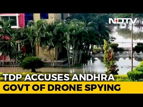 Use Of Drone Cameras Around Chandrababu Naidu's Home Sparks Political Row