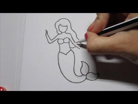 Zo Teken Je Een Zeemeermin In Stappen Youtube