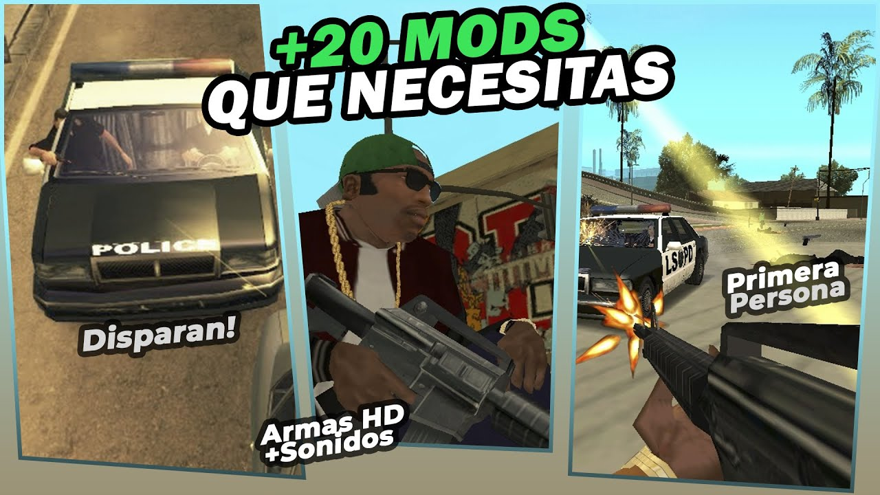 +20 Mods que necesitas en tu GTA San Andreas (SIN LAG)