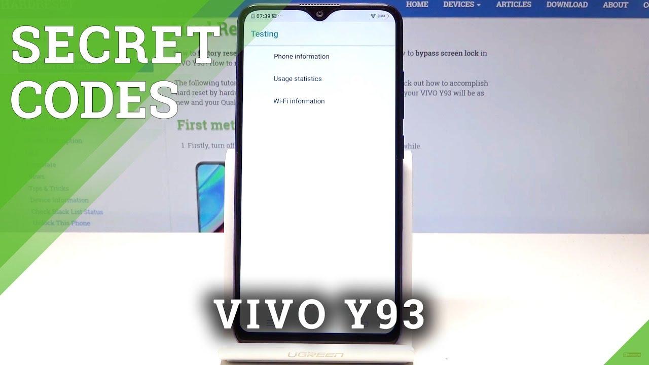 VIVO Y93 SECRET CODES   Hidden Features / Secret Options of VIVO