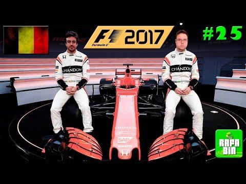 F1 2017 GP BÉLGICA CARREIRA #25 CHEGAMOS EM SPA