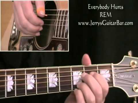 How To Play REM Everybody Hurts (intro only)