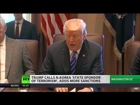 Trump calls North Korea 'state sponsor of terrorism'