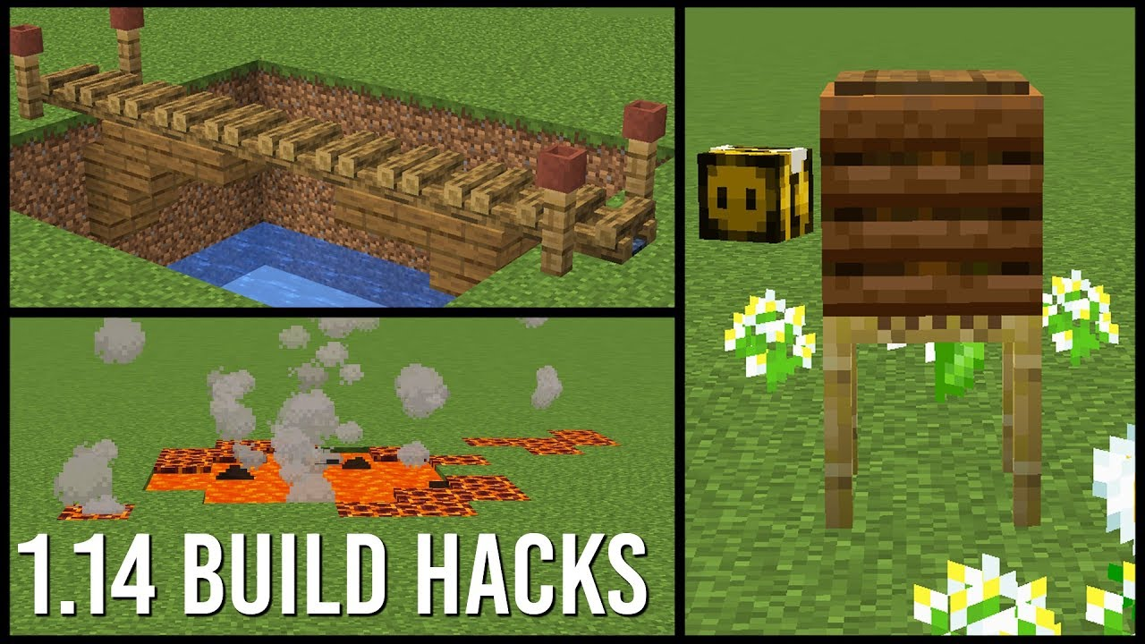 1 14 Minecraft Build Hacks
