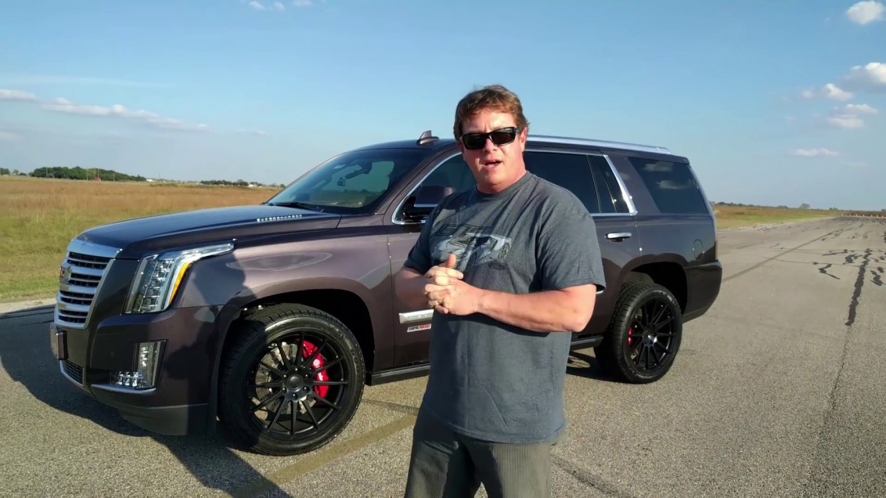 800 HP Cadillac Escalade Test Drive with John Hennessey - YouTube