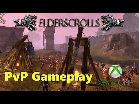 Elder Scrolls Online (ESO) Xbox One - PvP Campaign Gameplay, my first impression
