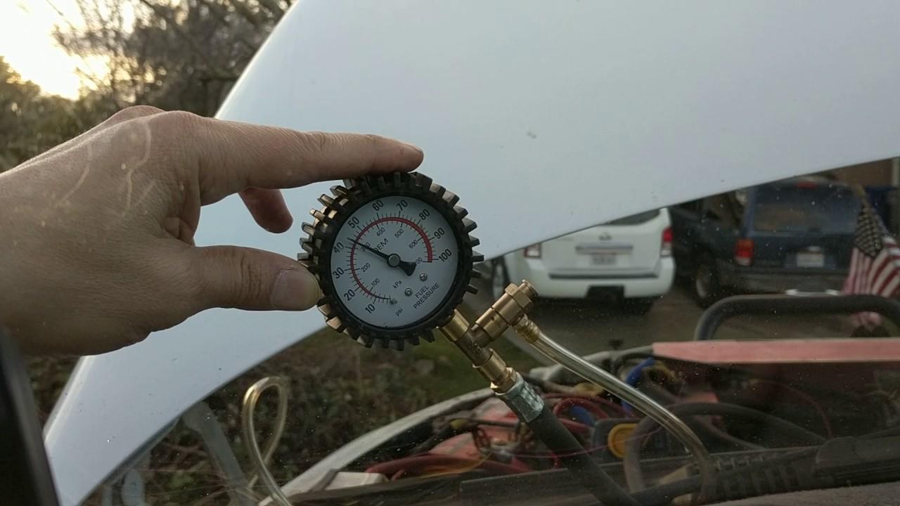 Fuel Pressure Check Dodge Youtube