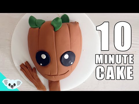 10 Minute GROOT CAKE | Guardians of the Galaxy Cake Art | Under 30 Min Cake | Koalipops