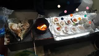 해물 바베큐는 이렇게 한대요.