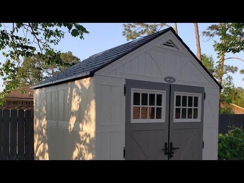 Craftsman aka Suncast 8x7 storage shed with shelves & framing