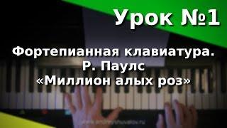 """Урок 1. Знакомство с фортепианной клавиатурой. «Миллион алых роз». Курс """"Любительское музицирование"""""""