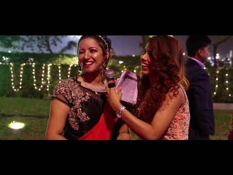 Anchor Priyanka Roy hosting a silver jubilee anniversary
