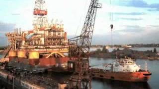 видео Полупогружная буровая установка