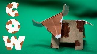як зробити корову з паперу своїми руками
