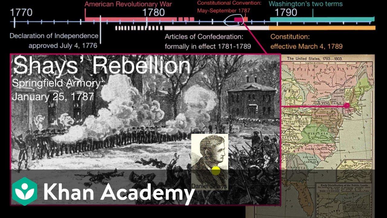 medium resolution of The Articles of Confederation and Shays' Rebellion (video)   Khan Academy