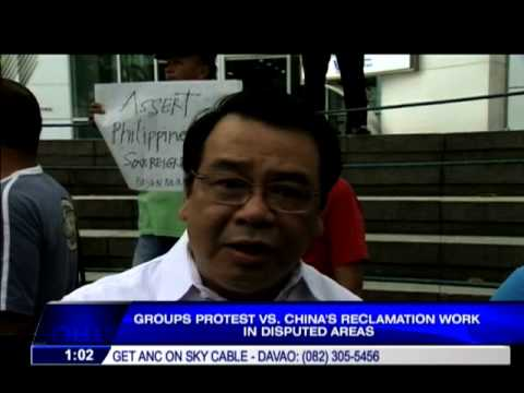Protesters gather at Chinese Consulate in Manila