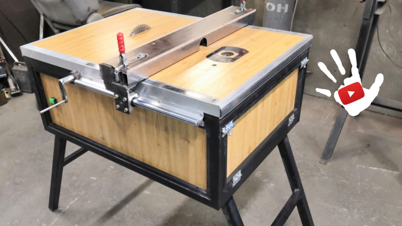 DYI Table Saw and Router. Циркулярка с фрезерным столом Не Своими Руками.