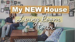 I GOT A NEW HOUSE! Living Room Tour | Komal Pandey