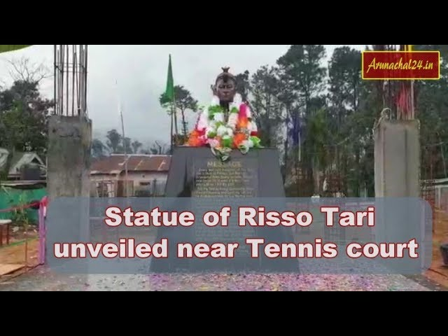 Itanagar-Statue of Risso Tari unveiled near Tennis court