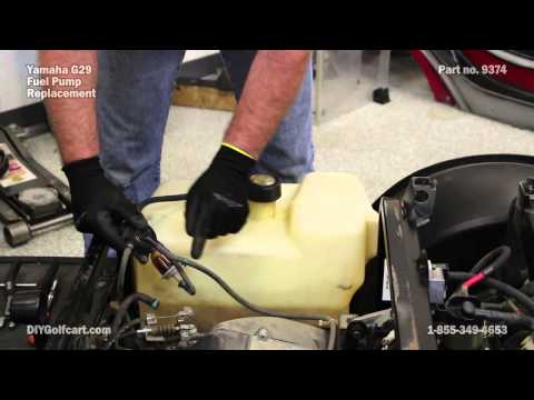 yamaha fuel pump install on g29 drive | gas golf cart fuel pump - youtube  youtube