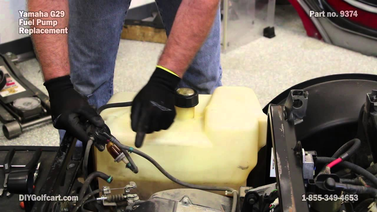 yamaha fuel pump install on g29 drive gas golf cart fuel pump youtube [ 1280 x 720 Pixel ]