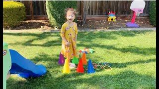 Kid FUN Play & Learning Colors and Numbers : Carnival Games Outdoor (Sophia LG age 4)