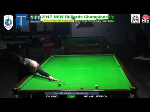 Final 2017 NSW Billiards Championship Joe Vs Michael. N