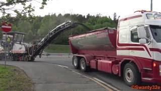 4K| Asphalt Milling - Wirtgen W150i, Bobcat S650 & Dump Trucks