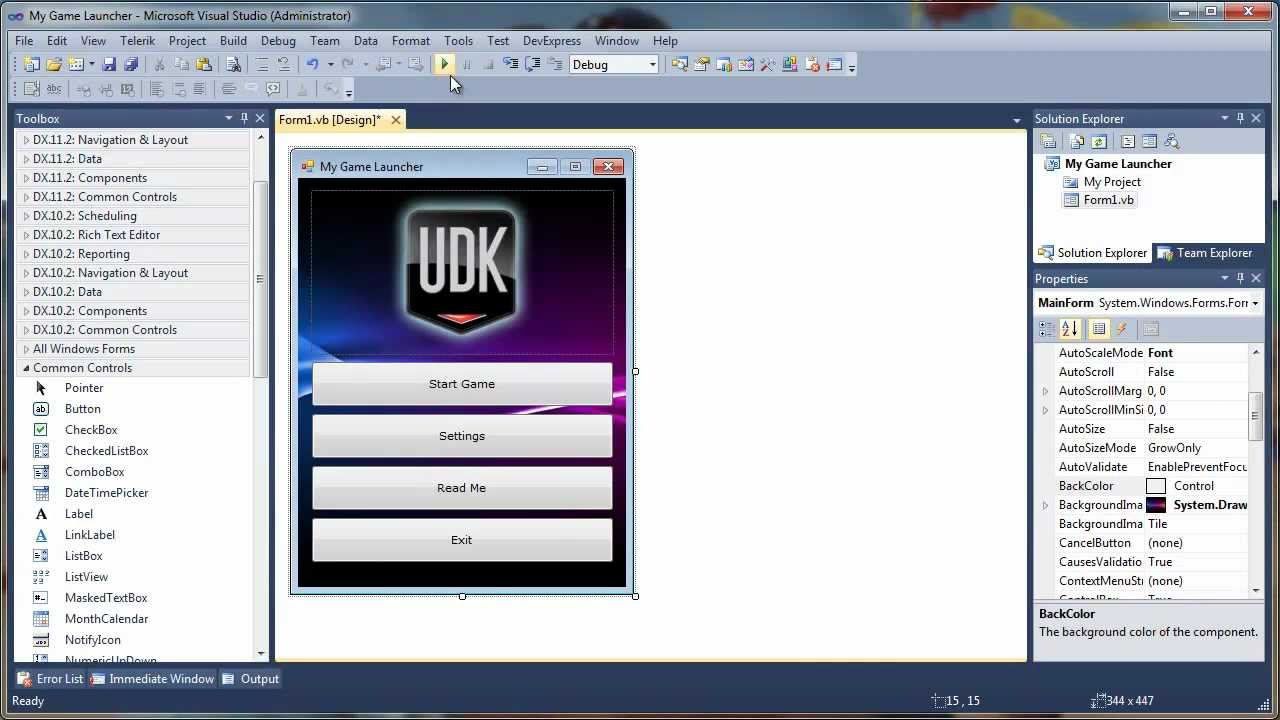 How to create Standalone Game Launcher for UDK games  Part I Designing  YouTube