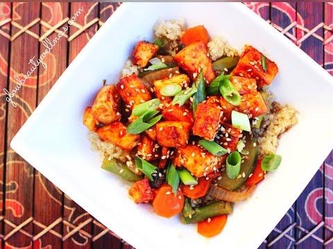FAT LOSS Healthy Recipe – Honey Sriracha Tofu w/ Vegetables