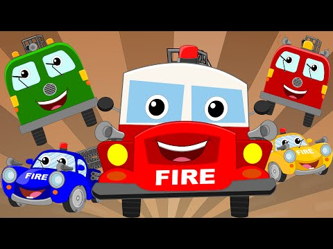 Happy and Sweety |Fire Truck Song | Fire Trucks | Vehicle Songs And Rhymes