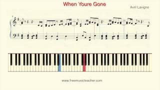 "How To Play Piano: Avril Lavigne ""When Youre Gone"" Piano Tutorial by Ramin Yousefi"