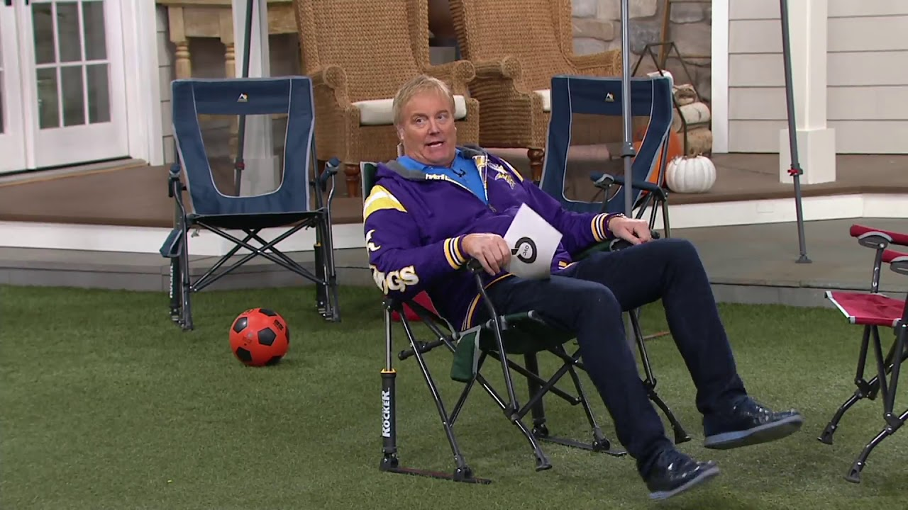 Gci Outdoor Road Trip Rocker Chair With Carrying Bag On Qvc Youtube