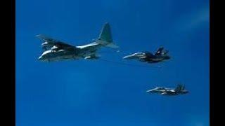 BREAKING USA FA18 Hornet fighter jet & KC130 Hercules collide refueling off Japan Coast 12/6/18