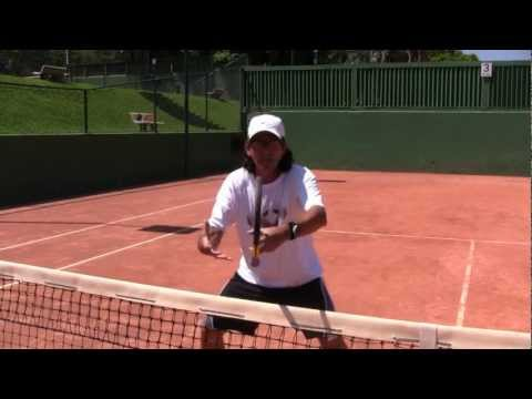 "Thumbnail: How To Play Tennis - Tennis Tips: Volleys: Be A ""Zorro Goalie"" At The Net!"