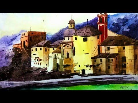 #watercolour #landscape painting tutorial
