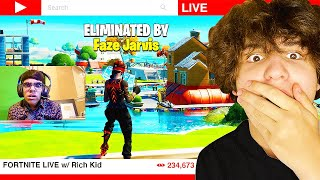 I Stream Sniped a RICH KID on my SECRET ACCOUNT! (Fortnite)